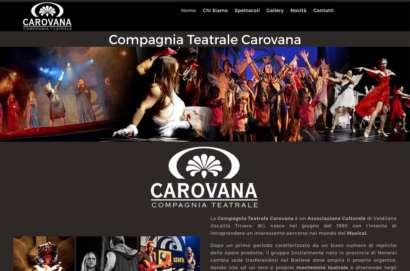 sito web compagnia teatrale carovana